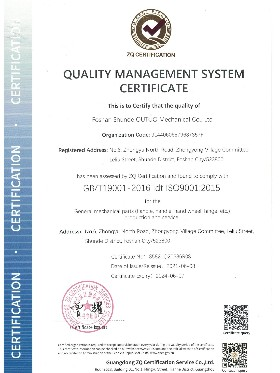 欧拓-ISO9001认证证书英文版